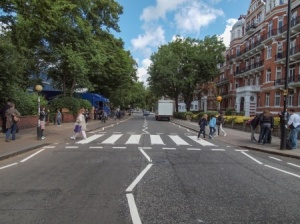 This crossing on Abbey Road, London  also experienced a life-changing moment in 1969 when four musicians decided to walk across it.